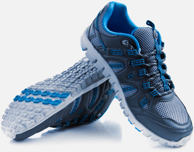 pair of running shoes